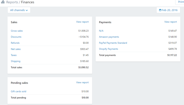 Shopify Finance Reports: What's there and what isn't